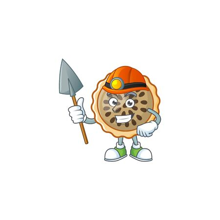 design pecan pie miner with seeds topping