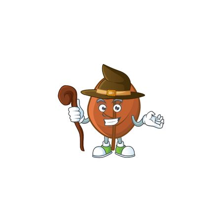 brown autumn leaves for design witch cartoon 일러스트