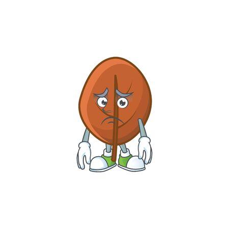 brown autumn leaves for design afraid cartoon