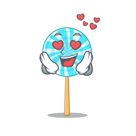 Happy cute lollipop falling In love design. Vector illustration