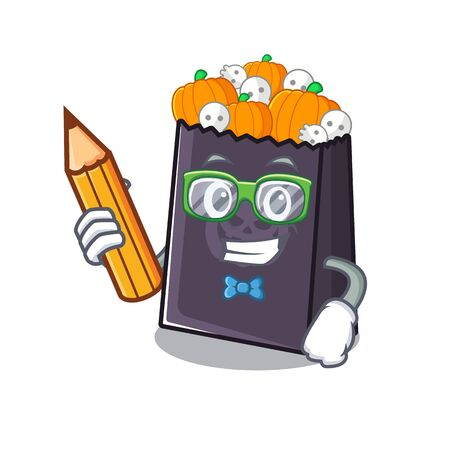 Student halloween bag stored in character drawer vector illustration Stock Illustratie
