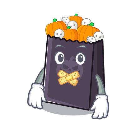 Silent halloween bag with the mascot shape vector illustration