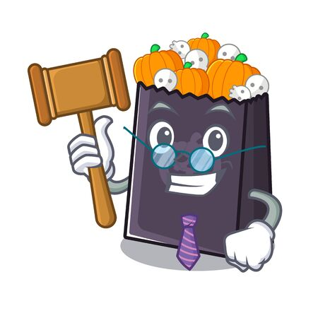 Judge halloween bag with the mascot shape vector illustration