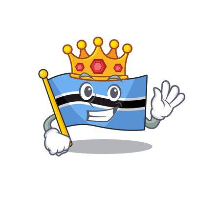 flag botswana cartoon king in a character.Vector illustration Reklamní fotografie - 133332225