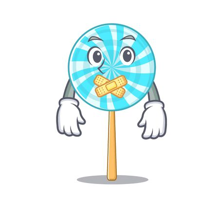 lollipop in silent a mascot candy basket.Vector illustration 일러스트