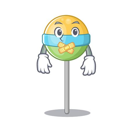 round lollipop silent isolated with the cartoon.Vector illustration 일러스트