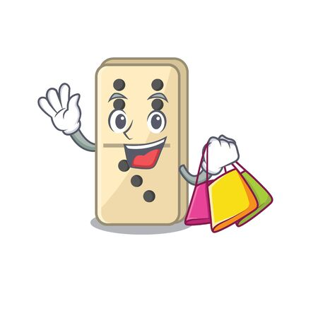 Smile domino shopping character isolated in vector. Vector illustration