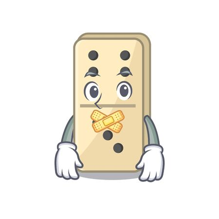 smiling silent isolated domino with the cartoon vector illustration