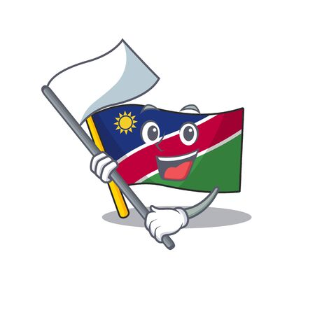 flag namibia isolated the in character bring flag vector illustration