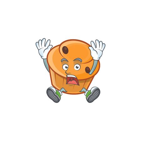 Cartoon brioche in the scream character shape.