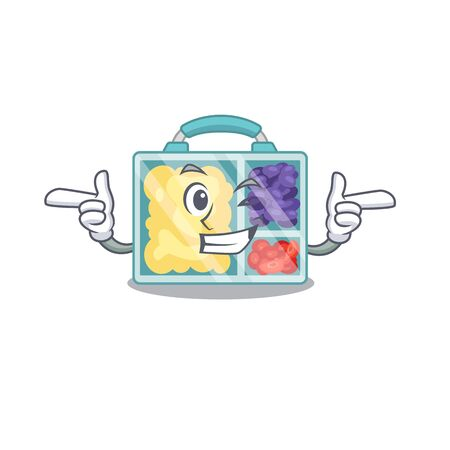 wink lunch box isolated with the mascot vector illustration 向量圖像