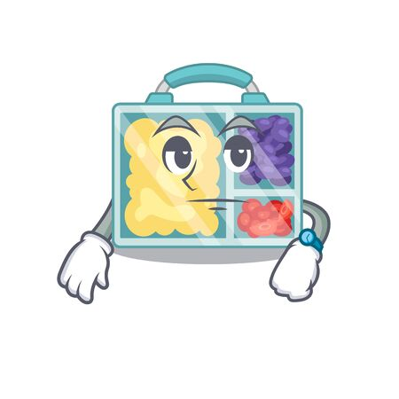 happy lunch box above waiting character table.Vector illustration Imagens - 133346688