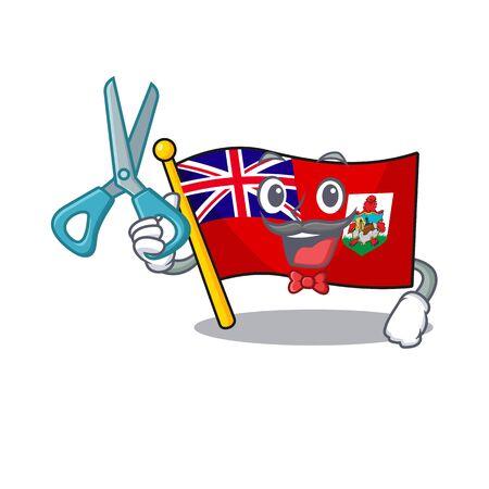 barber flag bermuda cartoon in character shape vector illustration Reklamní fotografie - 133350247