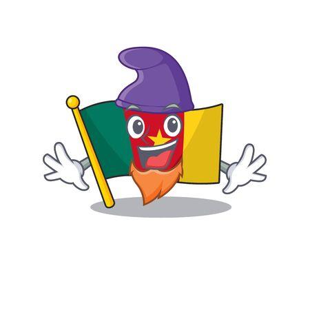 elf flag cameroon cartoon in character shape vector illustration Illusztráció