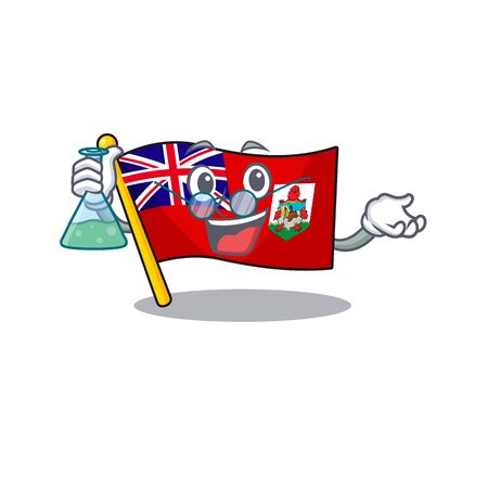 illustration flag bermuda on the mascot. illustration vector professor