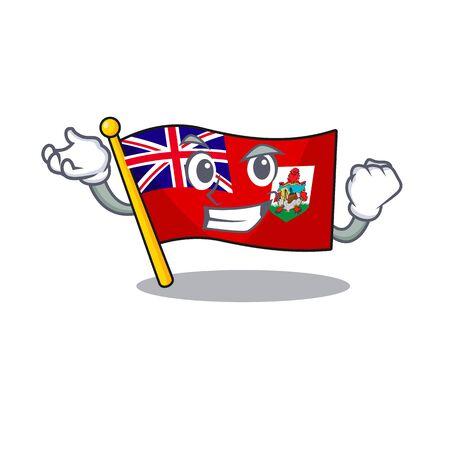 successful illustration flag bermuda on the mascot. illustration vector