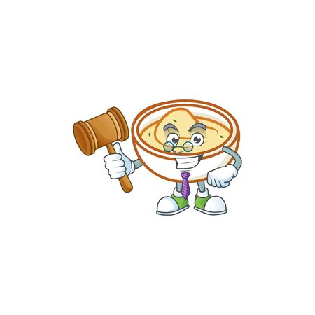 Mashed potatoes in bowl with judge character