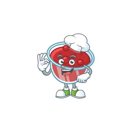 Canberries sauce with chef mascot on white background vector illustration
