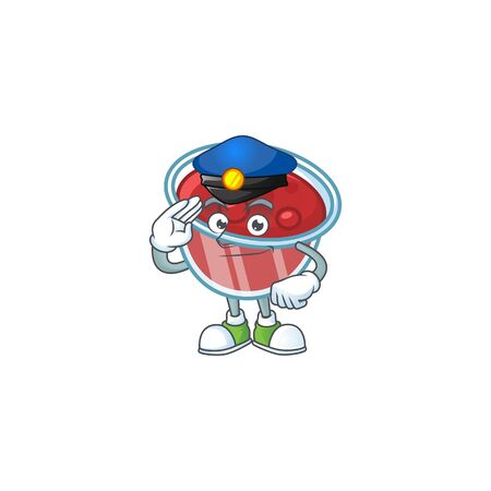 Canberries sauce icon in character shape police. Vector illustration