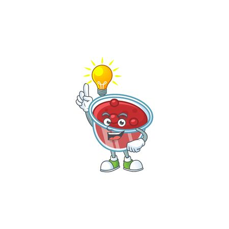 Sweet canberries sauce with cartoon style have an idea. Vector illustration