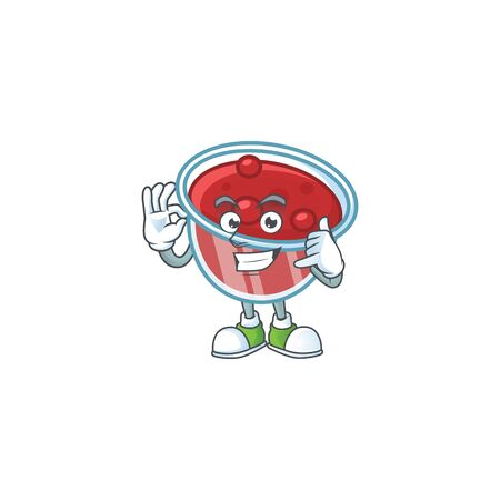 Sweet canberries sauce with cartoon style call me. Vector illustration