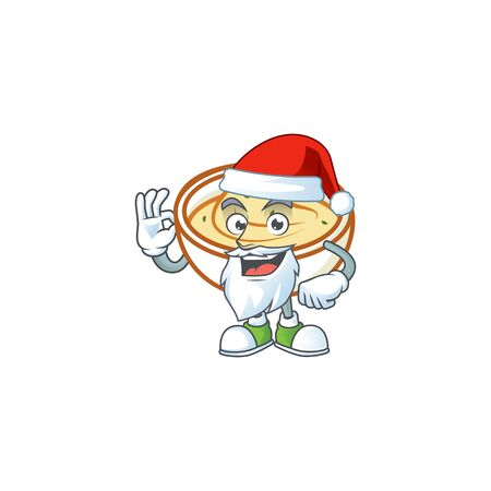 Mashed potatoes in bowl with santa claus character vector illustration