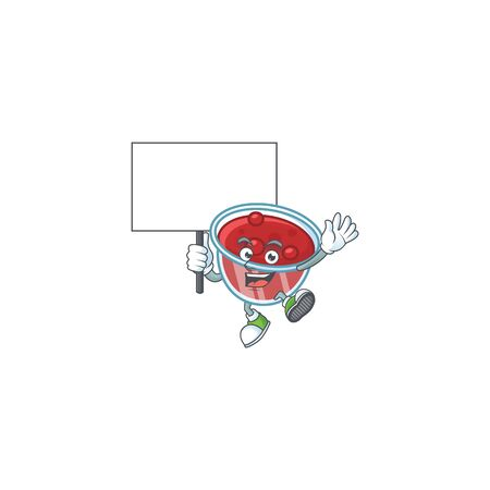 Canberries sauce icon in character shape bring board. Vector illustration