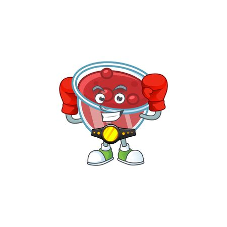 Canberries sauce icon in character shape boxing. Vector illustration