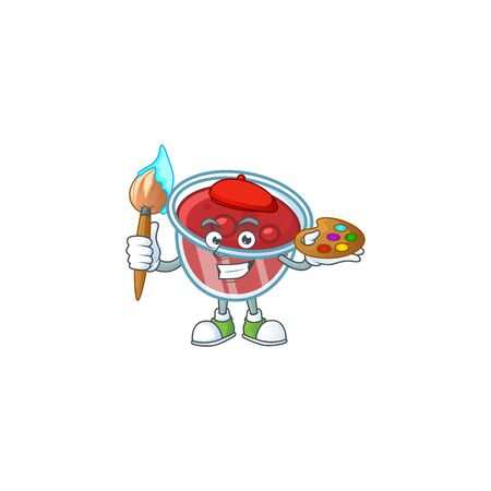 Canberries sauce icon in character shape painter. Vector illustration