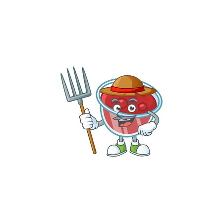 Canberries sauce icon in character shape farmer. Vector illustration Illustration
