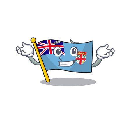 flag fiji cartoon grinning with the shape vector illustration Illustration