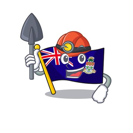 flag cayman islands in character shape miner vector illustration Stock Illustratie