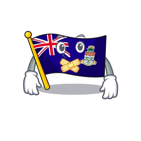 silent happy flag cayman islands with cartoon vector illustration 일러스트