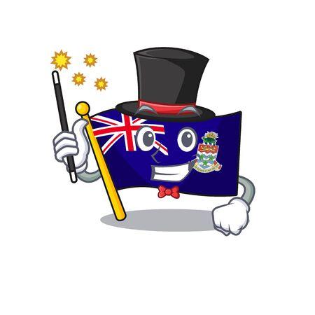 magician happy flag cayman islands with cartoon vector illustration Foto de archivo - 133483688