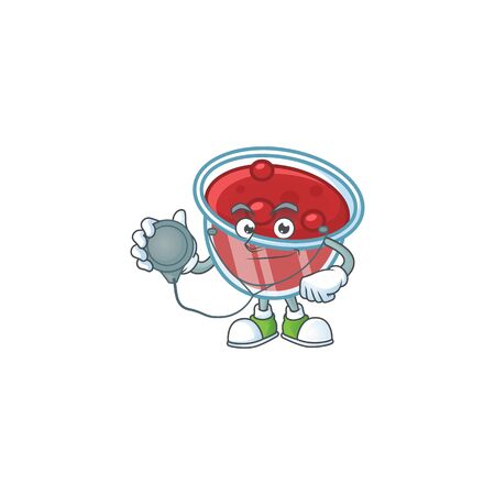 Canberries sauce icon in character shape doctor. Vector illustration
