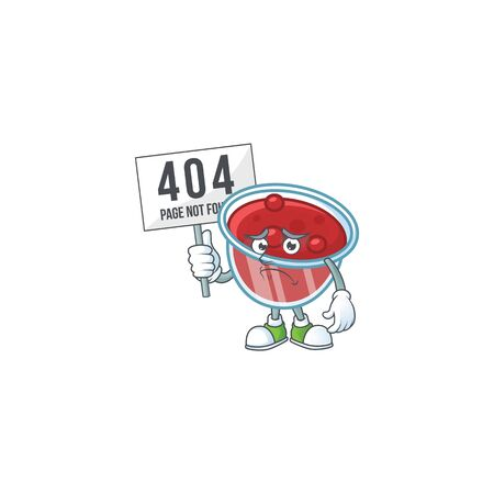 Canberries sauce icon in character shape pouting bring board. Vector illustration