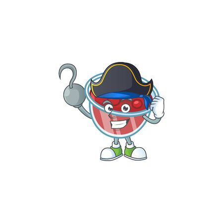 Canberries sauce icon in character shape pirate. Vector illustration