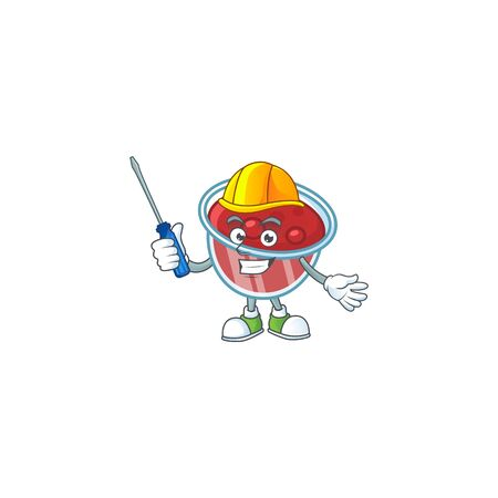 Sweet canberries sauce with cartoon style automotive. Vector illustration