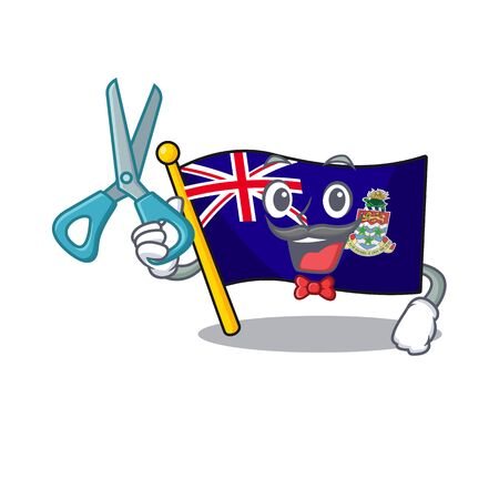 flag cayman barber islands on the mascot vector illustration