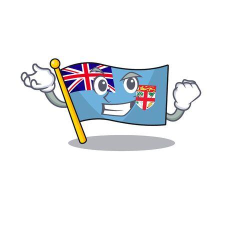 flag fiji cartoon successful with the shape vector illustration