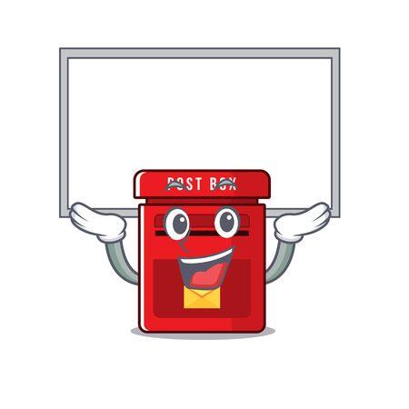 jusqu'à bord heureux boîte aux lettres avec illustration vectorielle mignon dessin animé