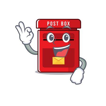 mailbox clings okay to cute cartoon wall vector illustration