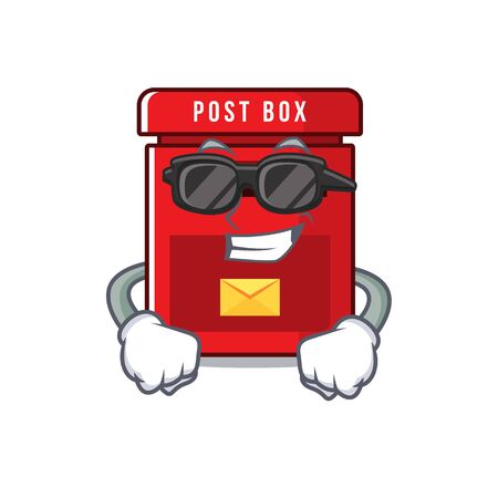 mailbox clings super cool to cute cartoon wall vector illustration
