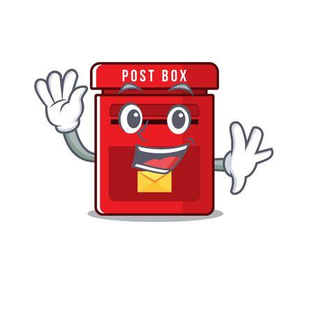mailbox clings to cute cartoon wall vector illustration