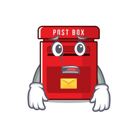 vector mailbox with a the afraid mascot.illustration vector Ilustração