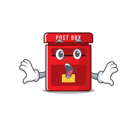 vector mailbox with a the surprised mascot.illustration vector Illusztráció