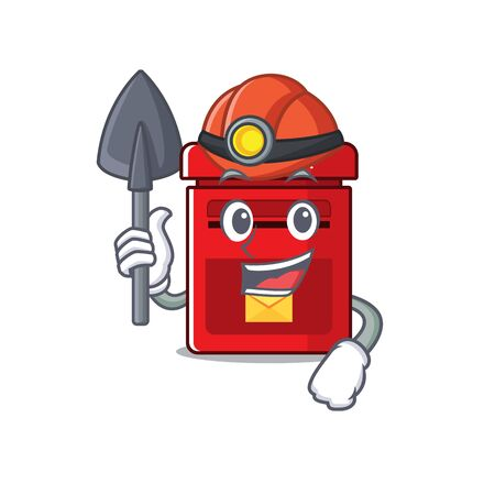 vector mailbox with a the miner mascot.illustration vector