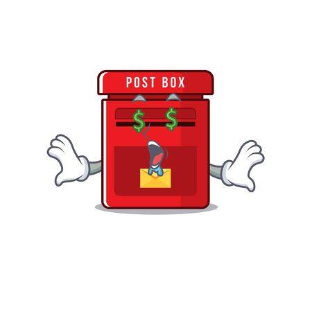 mailbox with a the mascot cartoon money eye vector illustration