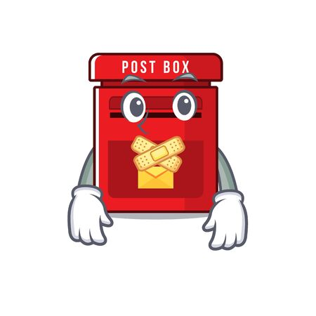 mailbox with a the mascot cartoon silent vector illustration