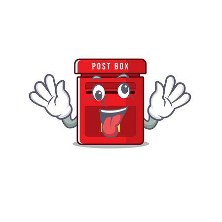 mailbox with a the mascot cartoon bring gift vector illustration